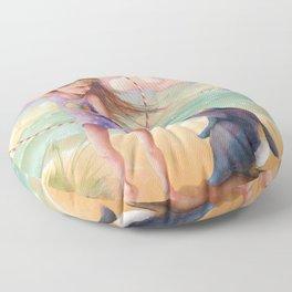 Z imagination Felicity and Fritz, Orphic Wanderers Floor Pillow