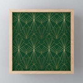 Art Deco in Emerald Green Framed Mini Art Print