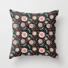 Aril Showers May Flowers Throw Pillow