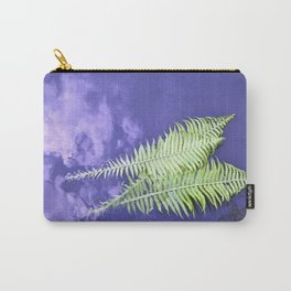fern leaves on blue water Carry-All Pouch