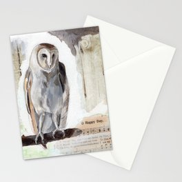 O Happy day - Owl Stationery Cards