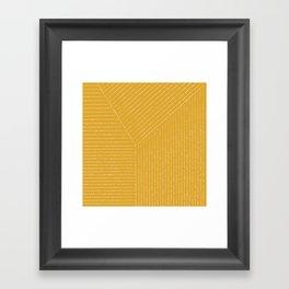 Lines (Yellow) Framed Art Print