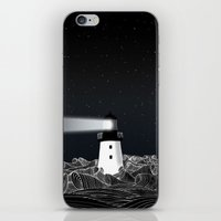 lighthouse iPhone & iPod Skins featuring Lighthouse by Florent Bodart / Speakerine