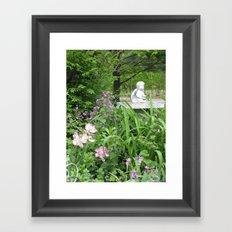 garden angel 2 Framed Art Print