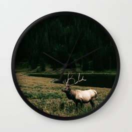 Oh Elk! Wall Clock