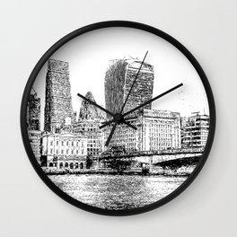 City of London Art Panorama Wall Clock