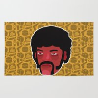 pulp fiction Area & Throw Rugs featuring Jules Winnfield - Pulp Fiction by Kuki
