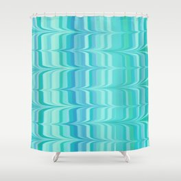 Birds In Flight In Shades Of Blue And Green Shower Curtain