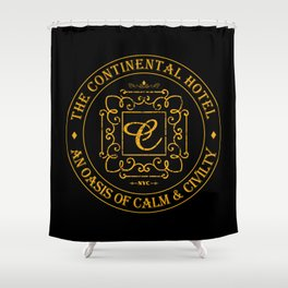 John Wick - The Continental Hotel Shower Curtain