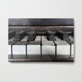 Antique Piano Metal Print