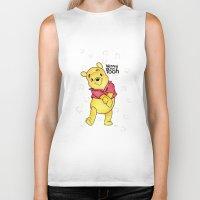 pooh Biker Tanks featuring Winnie the Pooh by Lozza.