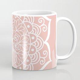Pretty Mandala on Rose Gold Coffee Mug
