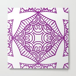 Mindful Mandala Pattern Tile MAPATI 186 Metal Print