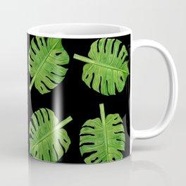 Dancing Monstera Leaves II Coffee Mug