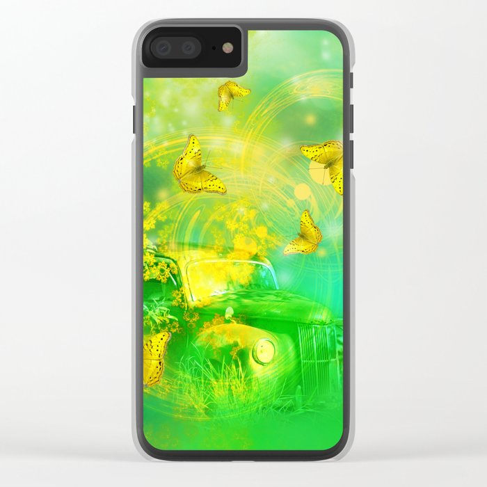 Dream wreck with butterflies Clear iPhone Case