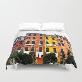 Cinque Terre - Colorful Buildings in Monterosso Duvet Cover