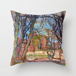 12,000pixel-500dpi - Spring Sun, Castle Ruin, Brederode - Piet Mondrian Throw Pillow