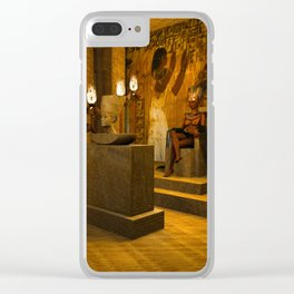 The creation of Queen Nefertiti's bust Clear iPhone Case
