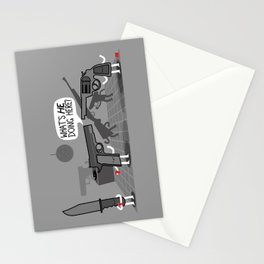 Don't Bring a Knife to a Gun Party Stationery Cards