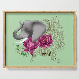 Elephant & Henna Serving Tray