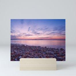 Seashore at sunset Mini Art Print