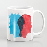 fight Mugs featuring Fight Club by Bill Pyle
