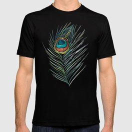 Peacock Tail Feather – Watercolor T-shirt