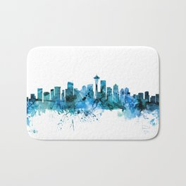 Seattle Washington Skyline Bath Mat