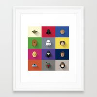 starwars Framed Art Prints featuring STARWARS SIMPLE by Randomleafy