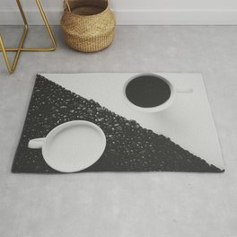 Black and White Coffee Rug
