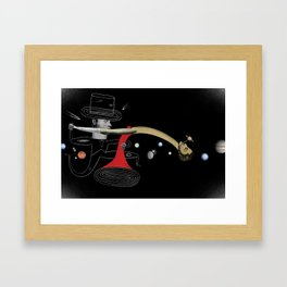 """""""Why It's Hard for Black Holes to Get Together"""" by David Plunkert for Nautilus Framed Art Print"""