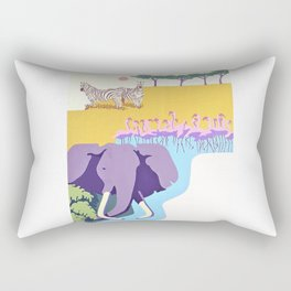 Poster with graphic african animals in strong colors Rectangular Pillow