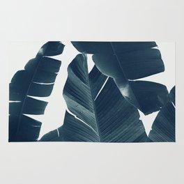 Banana Leaves Green Blue Vibes #2 #tropical #decor #art #society6 Rug