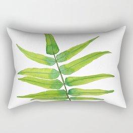 Green Fern Leaf  - Tropical forest Rectangular Pillow