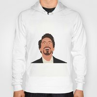 robert downey jr Hoodies featuring Robert Downey Jr. by Kaylabeaisaflea