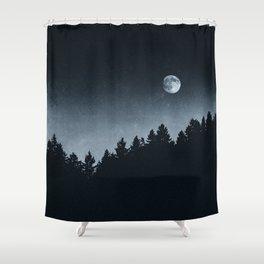 Under Moonlight Shower Curtain