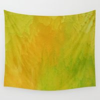 lime Wall Tapestries featuring Lemon/Lime by Benito Sarnelli