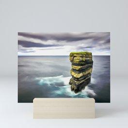 Downpatrick Head, Ireland. (Painting.) Mini Art Print