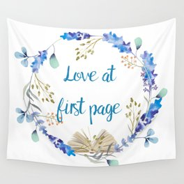 Love at first page Wall Tapestry
