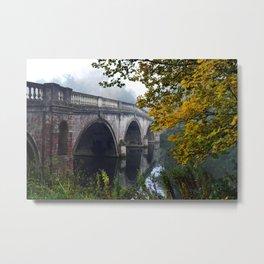 The Bridge At Clumber Park Metal Print