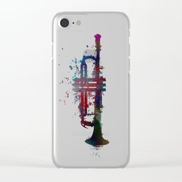 trumpet art #trumpet #music Clear iPhone Case