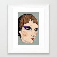 make up Framed Art Prints featuring make up by Le Butthead