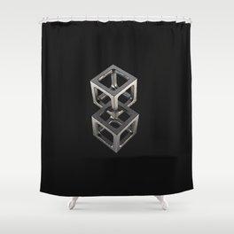 T w o C u b e s Shower Curtain