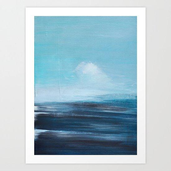 abstract surreal seascape Art Print