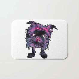 Lugga The Friendly Hairball Monster For Ghouls Bath Mat