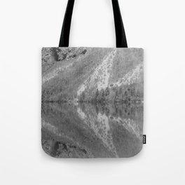 Silver Landscape At Lake Bohinj Tote Bag