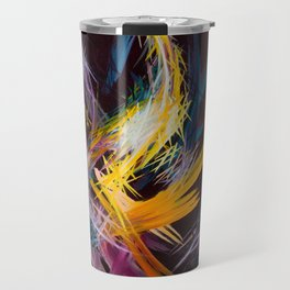 Fractured Realities and Dreams Brought to Light Travel Mug