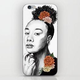 Autumn petals - floral portrait 2 of 3 iPhone Skin