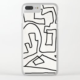 Abstract line art Clear iPhone Case