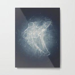 Wolf Skull Metal Print